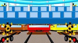 ロンドン橋おちた踏切 | 水中電車物語 | こどもアニメ thumbnail