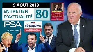 EA80: Industrie française - ADP  - Violences policières / Castaner - Macron - Italie - Brexit