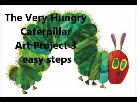 Kids Easy Very Hungry Caterpillar art project! - YouTube