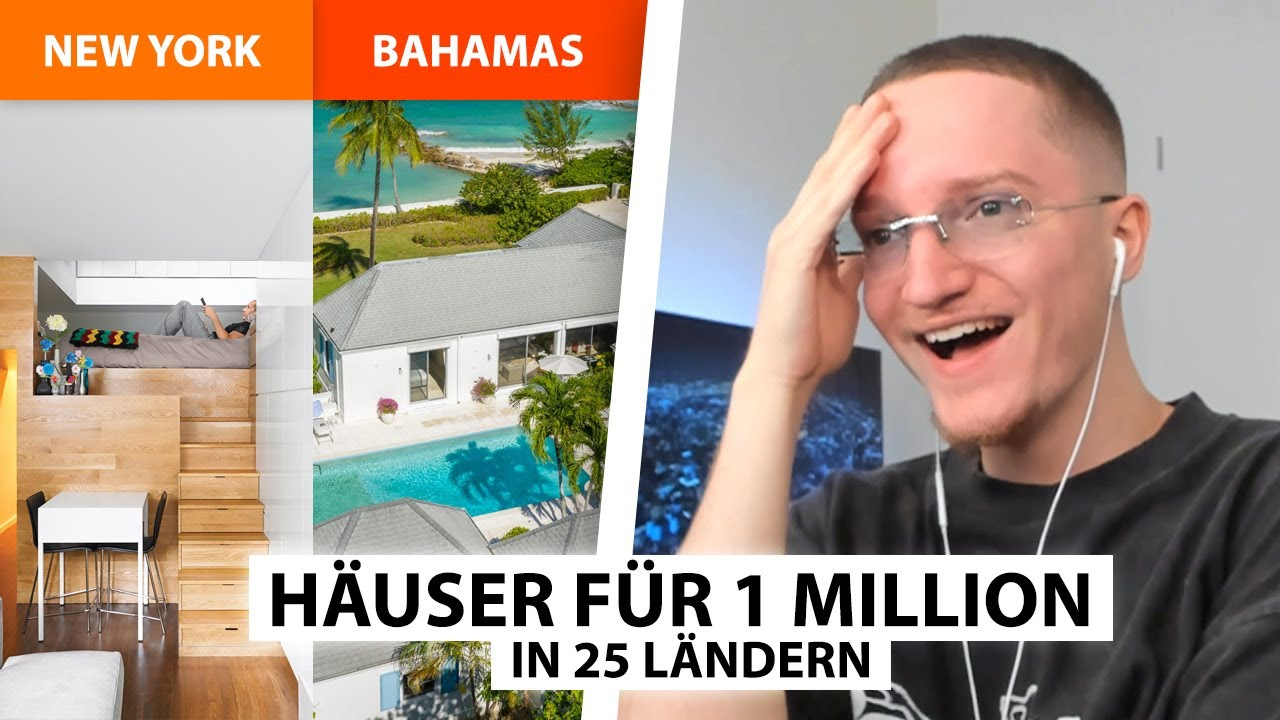 Was du für 1 Million in 25 Ländern bekommst! 🏠 | Justin reagiert