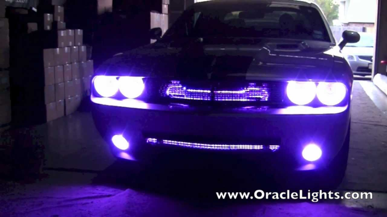 Dodge Challenger With Oracle Colorshift Halos Youtube