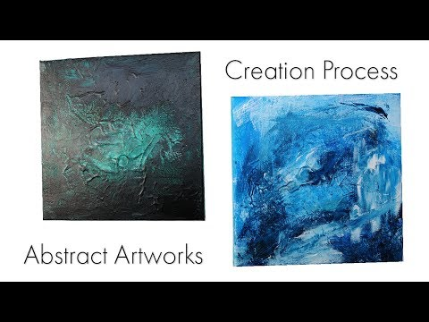 Creation Process ~ Abstract artwork ~ Acrylics ~ Demonstration