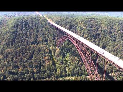 Drone Flight over the New River Gorge Bridge
