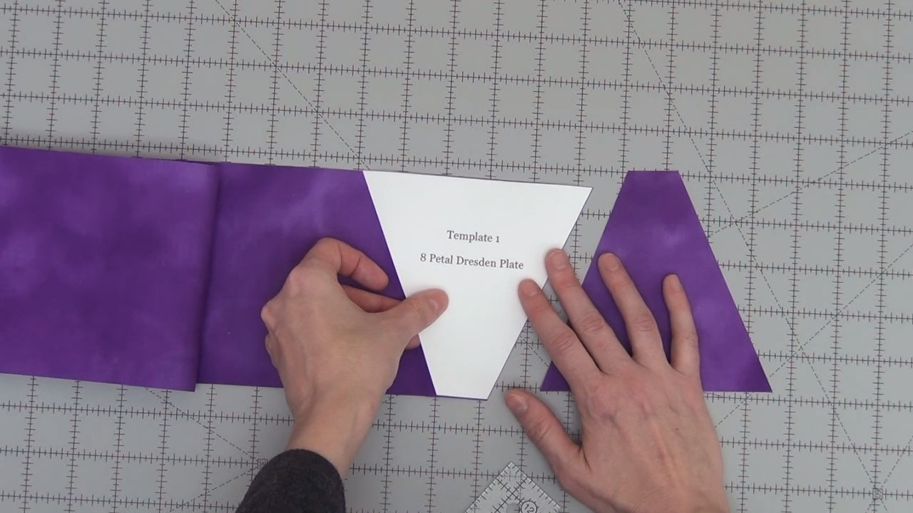 How To Make A Fabric Cutting Template Quilting Basics Tutorial 11