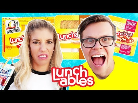 Eating only Lunchables for 24 hours Challenge!