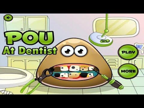 Pou At Dentist - Funny Pou Game for Kids