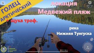 Русская рыбалка 4 - река Нижняя Тунгуска - Голец и внезапная щука