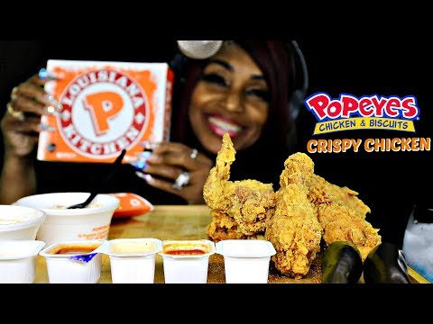 ASMR POPEYES CHICKEN; FAST CHEWING; INTENSE EATING; EXTREME CRUNCH