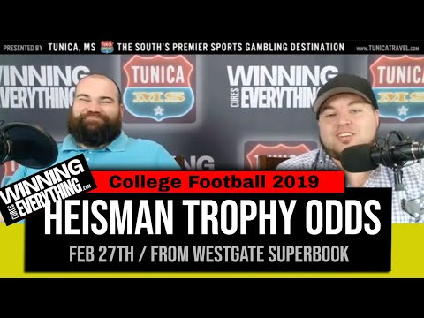 WCE: 2019 College Football Heisman Trophy opening odds - YouTube