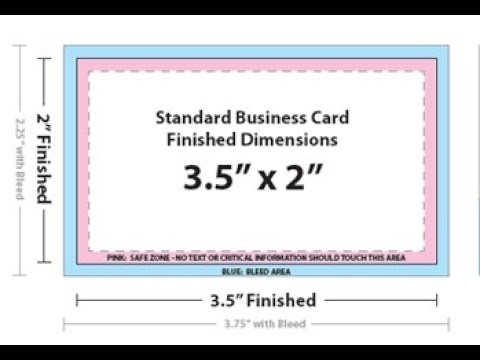 Business Card Size In Adobe Photo