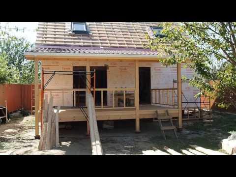 Строительство каркасного дома в Краснодаре.