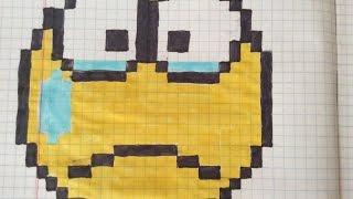 Урок #11. Как нарисовать Плачущий Смайлик по клеточкам.