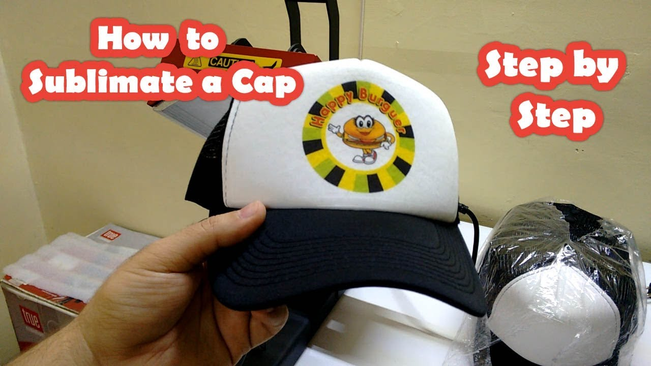 How to sublimate caps step by step cap heat press - YouTube 4760dd974c8