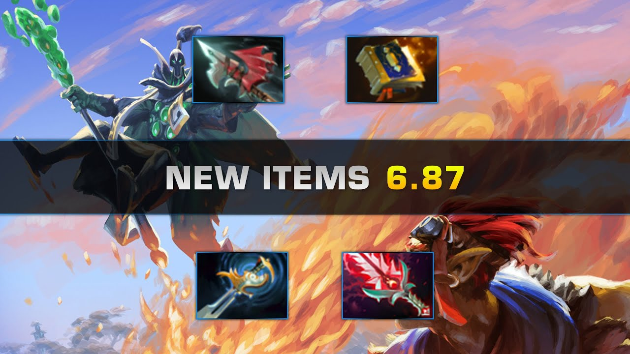 dota 2 new items patch 6 87 youtube