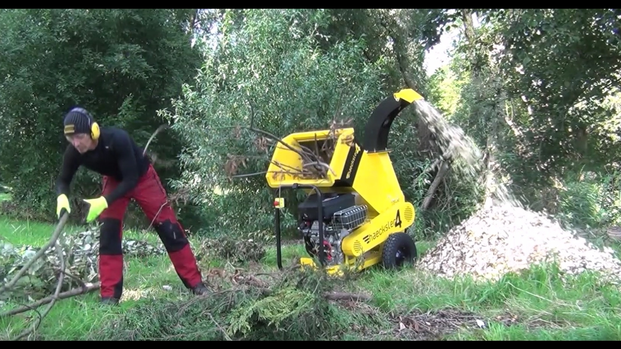 haecksler 4 the fastest compact wood chipper shredding more in less time youtube. Black Bedroom Furniture Sets. Home Design Ideas