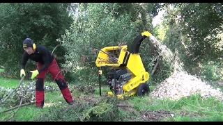 Haecksler 4. The fastest compact wood chipper. Shredding more in less time