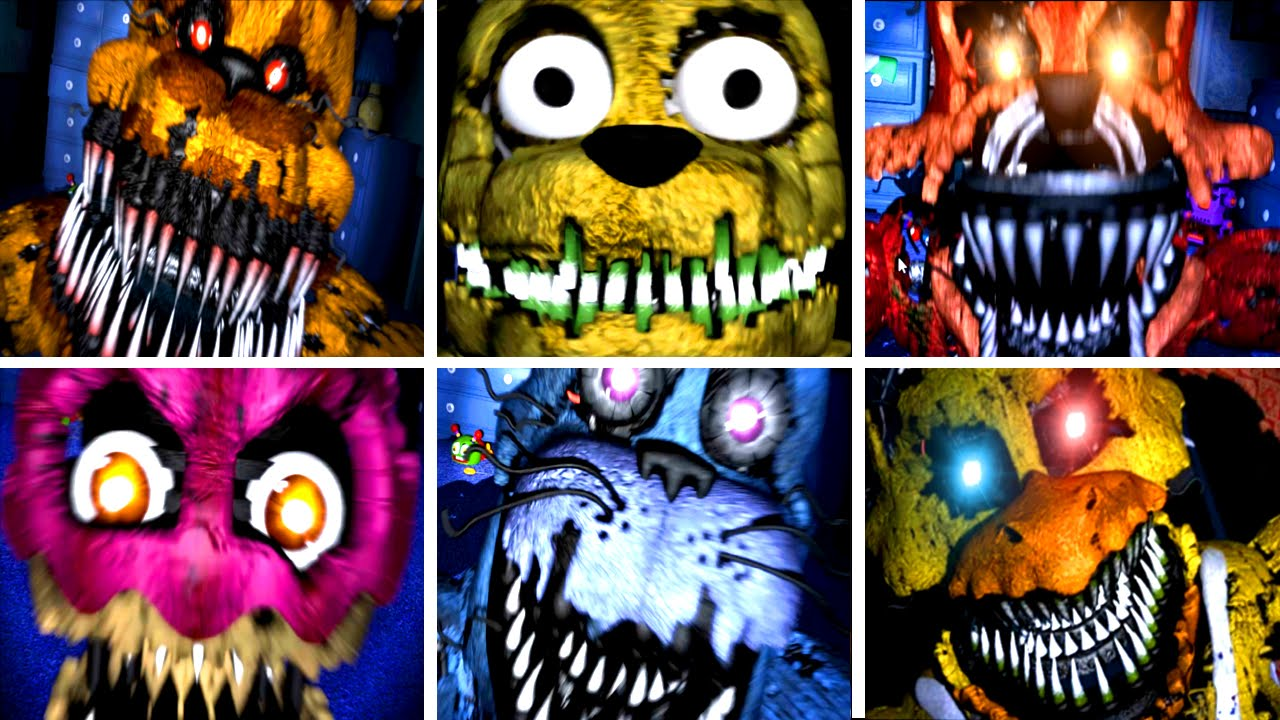Five Nights at Freddy's 4 All Jumpscares image