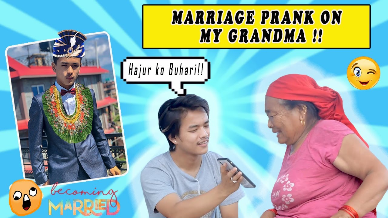 MARRIAGE PRANK ON GRANDMA and DAD !! 🥴    MY BABY IN HER WOMB ?!🤭    Abishek Gurung