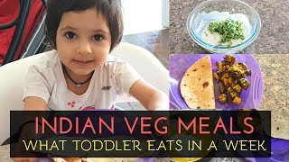 WHAT MY TODDLER EATS IN A WEEK | Breakfast, Lunch, Snacks and Dinner | Vegetarian Meal Ideas
