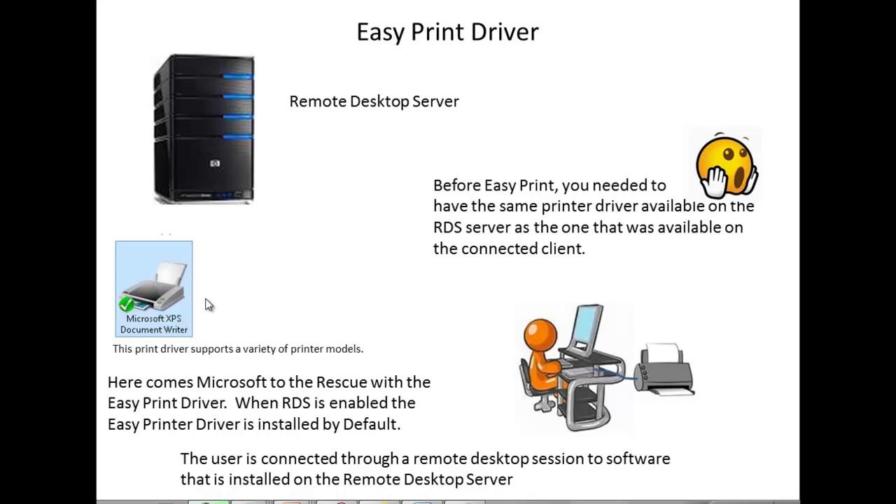 REMOTE DESKTOP EASY PRINT DRIVER ONLY download
