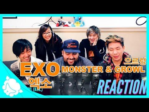 Non-Kpop Fans REACT to EXO 엑소 - Monster & Growl 으르렁