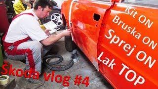 Škoda 120 vlog #4 - Dokytování, broušení a Lakování sprejem