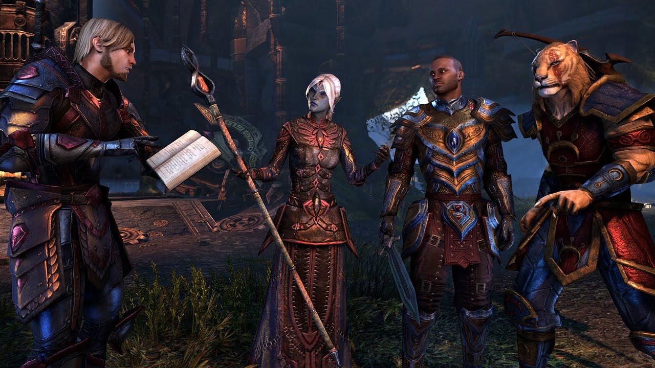 The Elder Scrolls Online: Tamriel Unlimited - Four Friends - YouTube