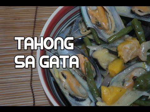 Paano magluto Tahong sa Gata Recipe - Filipino Mussels Tagalog Seafood