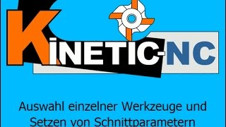KinetiC-NC - Werkzeugparameter
