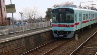 西鉄7000形 7153+7553 回送 三潴通過