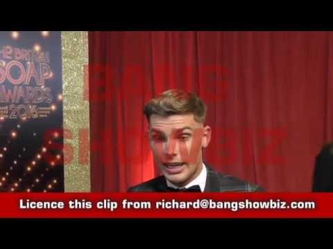 Interviews Kieron Richardson at the SOAP awards 2016
