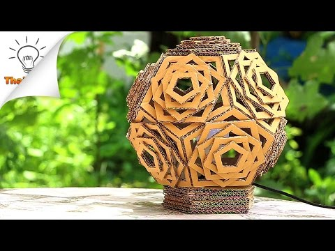 DIY Beautiful Cardboard Lamp | Thaitrick