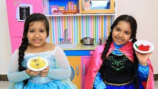 السا ضد انا تحدي الطبخ !!! Elsa vs Anna Food COOKING Competition