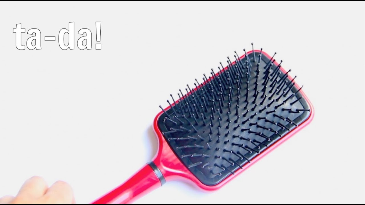 How To Clean A Hair Brush Youtube Brus