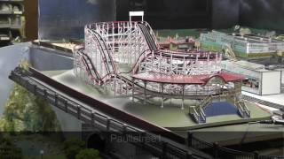 Old Style Wooden Roller Coaster Added To My H.O. Train Layout