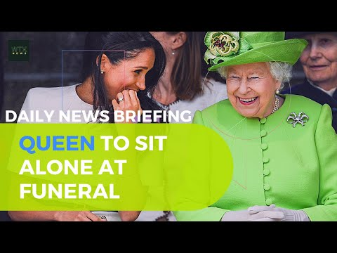 Queen Elizabeth set to sit alone at Prince Philip's funeral - Friday's News Briefing