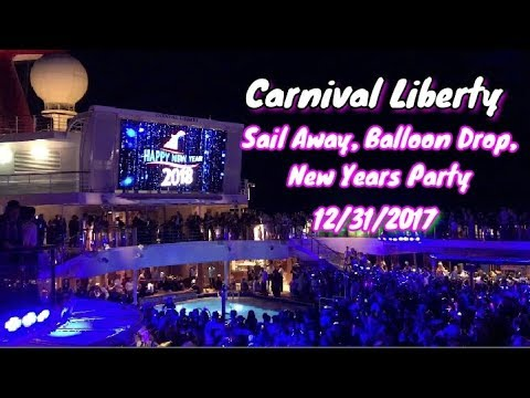 Carnival Liberty New Years Party, Balloon Drop and Sail Away Party 12/31/2017