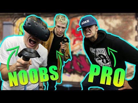 NOOBS versus PRO ! VR Graffiti w/ DokeTv