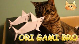 как сделать акулу из бумаги. Оригами рыбка
