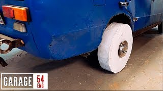 Making a wheel from 10000 sheets of A4 paper