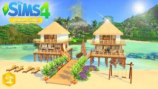 PRIVATE ISLAND TWIN BEACH VILLAS - Sims 4 Island Living Speed Build