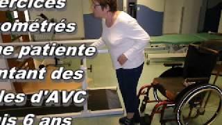 Education d'une patiente (séquelles d'AVC) : 2 exercices chronométrés