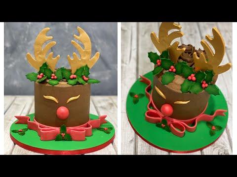 Christmas Reindeer Cake | Rudolph the Red Nosed Reindeer Cake