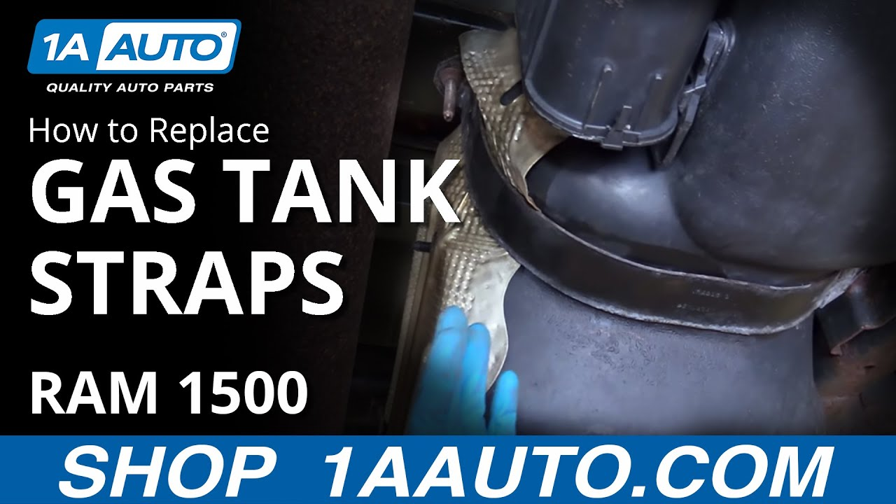 How to Replace Install 26 gal Gas Tank Straps 2008 Dodge