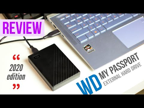 New 2020 WD My Passport External Hard Drive Review | Trendated Tech