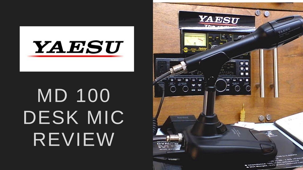 The Yaesu MD 100 desk microphone. on