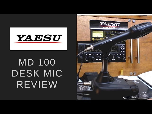 The Yaesu MD 100 desk microphone.