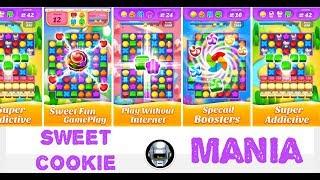 Sweet Cookie Mania (mobile) match 3 - JUST GAMEPLAY screenshot 1