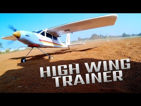 Download RC Plane High wing trainer made of plastic