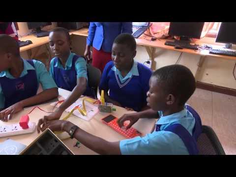 Young Ugandan girls coders